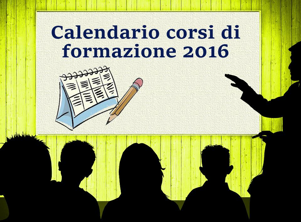 Calendario corsi di formazione 2016