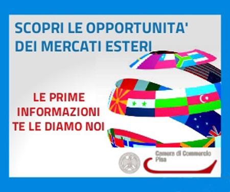 Servizio di internazionalizzazione della Camera di Commercio di Pisa